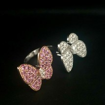 Two Butterfly between-the-finger ring VAN CLEEF PINK Sapphire & Diamond ... - $14,845.05