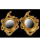 Vintage 591ms Italiano Color Oro Foglia da Parete Ovale Specchio Volute ... - $179.64