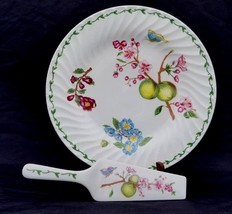 Royal Gallery 1995 Stunning Floral White Plate with Matching Spatula fo... - $19.80