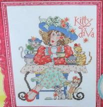 ALMA LYNNE Counted Cross Stitch Kit  KITTY DIVA 2010* - $22.00