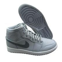 Air Jordan 1 Mid Mens Size 12 Wolf Grey Basketball Shoes 554724 033 New - $89.09