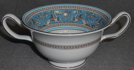 Wedgwood Bone China Florentine Pattern Cream Soup England Enameled Trim - $31.67