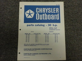 Chrysler Outboard 30 HP Parts Catalog Electric Manual - $24.74