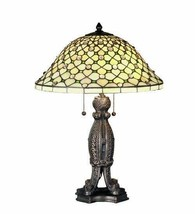 Victorian Style Table Lamp Tiffany Style Stained Glass Lamp Shade - $1,161.27