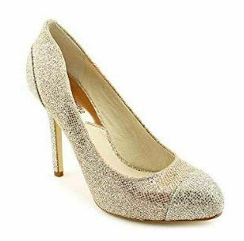 Women's Shoes Michael Kors SINCLAIR PUMP Stiletto Heels Glitter SAND Glamour