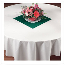 72 x 72 Linen Like White Tablecover/Case of 24 - $218.08