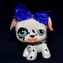 2004 Hasbro Littlest Pet Shop LPS Black White Spotted Dalmatian Dog Pupp... - $151,72 MXN