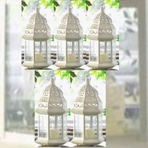 "Lot 5 LARGE Moroccan Style Lantern 15"" Tall Candleholder Wedding Centerpieces - $97.02"