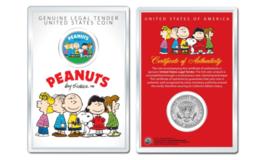 Peanuts * Original Gang * OFFICIAL JFK Half Dollar U.S. Coin in PREMIUM ... - $10.84