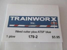 Trainworx Stock #179-2 Snowplow Weed Cutter ATSF Blue N-Scale- image 2