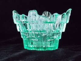 Viking Glass Spring Green Icicle Glimmer Votive Candle Holder 8211, Viking Green - $34.00