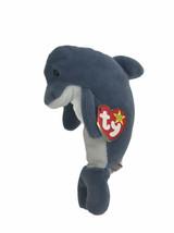 Ty Beanie Baby Echo Dolphin 1996 Gray Bean Bag Plush - $8.91