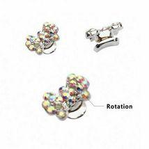 5 pcs Nail Art 3D Crystal Charm Spinner Rhinestone Glitter Manicure DIY Decor image 8