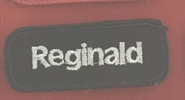 Reginald name tag patch 1-3/8 X 3-3/8 - $4.50