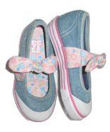 Blue's Clues Girls Sz 8 Toddler Denim Maryjane Sneakers Flat Dres Bow Sh... - $12.99