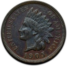1905 Indian Head Cent Penny Coin Lot A 295