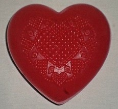 E0B AVON decorated red heart soap   - $5.93