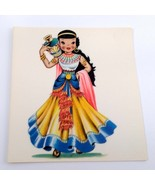 Dolls of Many Lands Card Egypt Vintage Blank Note Card for Collage, Ephe... - $2.50