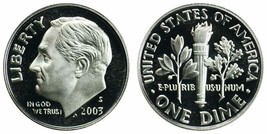 2003 S Proof SILVER Roosevelt Dime from US Mint Proof Set CP9211 - $5.95