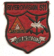 US Navy  River Div 511 Patch Tuan Giang FIRST IN THE DELTA Vintage Vietn... - $9.89