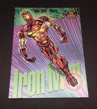 1994 Marvel Universe Series 5 Power Blast Insert Card #7 Iron Man - $4.94