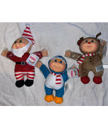 "3 Cabbage Patch Kids Sparkle Cuties HOLIDAY HELPERS 10"" Dolls Christmas NWT - $54.44"