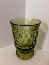 Vintage Juice Glass Whitehall Green Avocado by COLONY Height: 3 7/8 in - $5.69