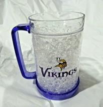 NFL Minnesota Vikings 2 Logos on Crystal Freezer Mug Purple Handle Duck ... - $28.99