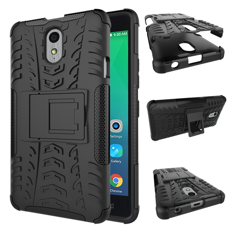 Duty protection rugged dual layer hybrid shockproof case for lenovo p1m black p20160114074610602