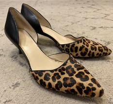 Nine West Leopard Cheetah Print Fur Leather Selena Pointed Toe Pumps Sz ... - $15.74