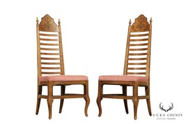 """Drexel """"Esperanto"""" Collection Vintage Pair Ladder Back Side Chairs - $465.00"""