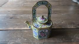 "Enamel Chinese Handpainted Tea Pot 5.25"" - $29.69"
