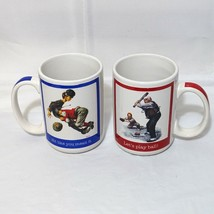 The Saturday Evening Post Set of 2 Baseball Theme Mugs Dishwasher Microw... - $19.78
