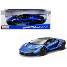 Lamborghini Centenario Metallic Blue with Black Top 1/18 Diecast Model C... - $57.35