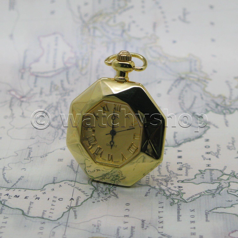 Antique Ladies Vintage Pocket Pendant Watch Key Chain Necklace Gift Box L4749