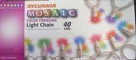 Sylvania 72140 40 Light Wire Multi-Color LED Miniature Christmas Light String Se - $13.86