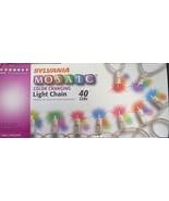 Sylvania 72140 40 Light Wire Multi-Color LED Miniature Christmas Light S... - $13.86
