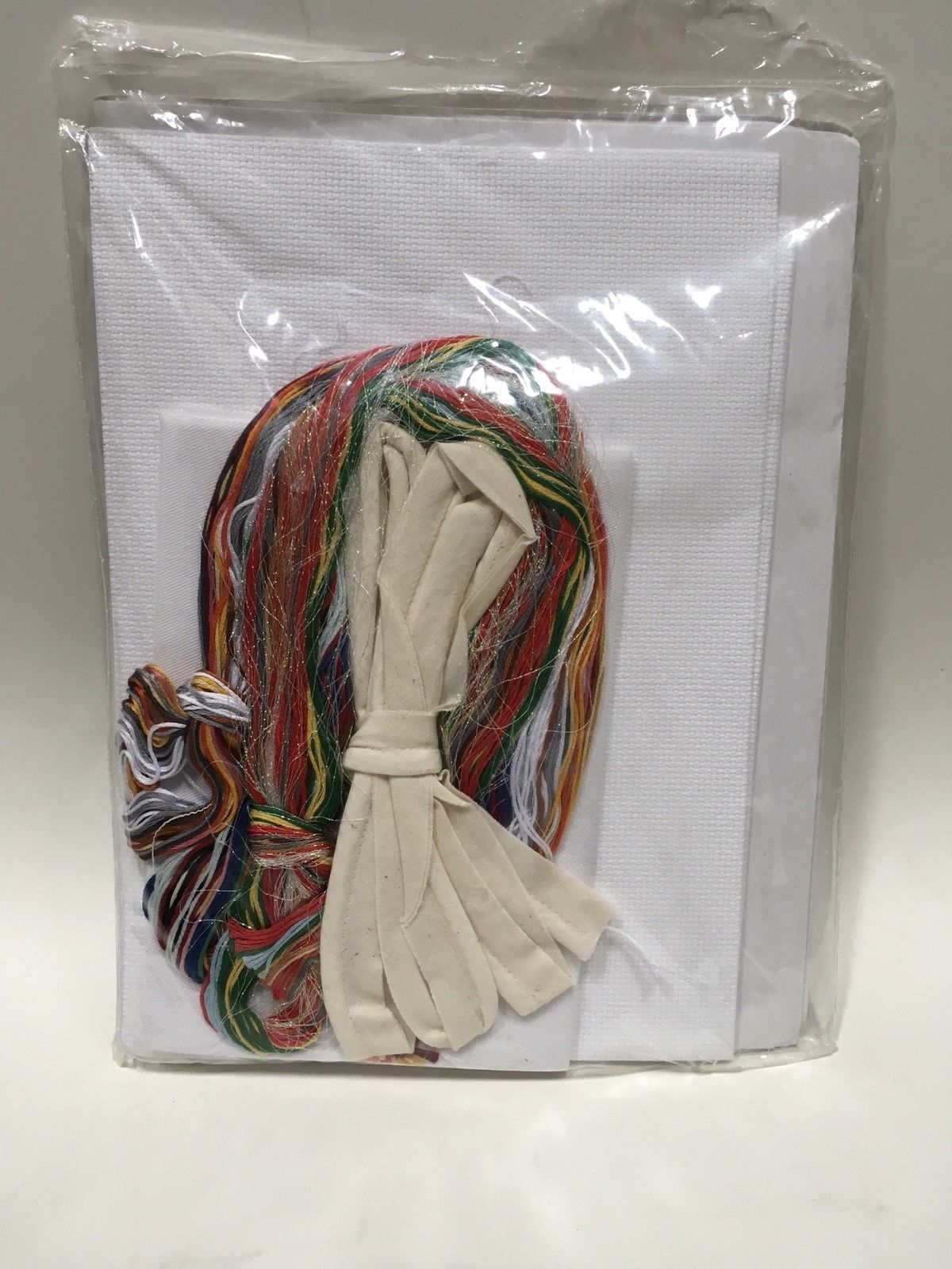 "Janlynn Christmas Stocking Kit Counted Cross Stitch Snowman Holiday 17"" NIP Vtg"