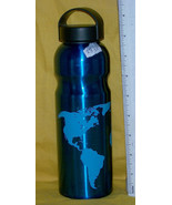 World Map Aluminum Water Bottle, 28 oz, For travel, sports, school, home - $5.18
