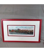 Original Dry Point & Watercolor Sketch of Prague, 2007, Unknown, Matted ... - $22.43
