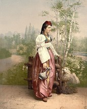 New 8x10 Photo - Girl in peasant outfit Sarajevo Bosnia Austria Hungary ... - $6.16