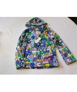 The Children's Place Girl's Long Sleeve Fleece Hoodie S 5/6 Purple Multi... - $24.74