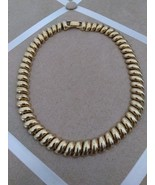 Vintage Gold Tone Chunky Braid Fashion Choker Necklace - $25.00