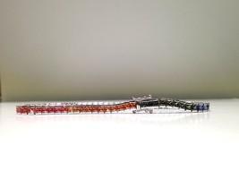 7.00 Carat Rainbow Sapphire Bracelet in 925 Sterling Silver
