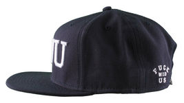 Crooks & Castles F.W.U Fu k with Us Dark Navy Snapback Baseball Hat NWT image 5