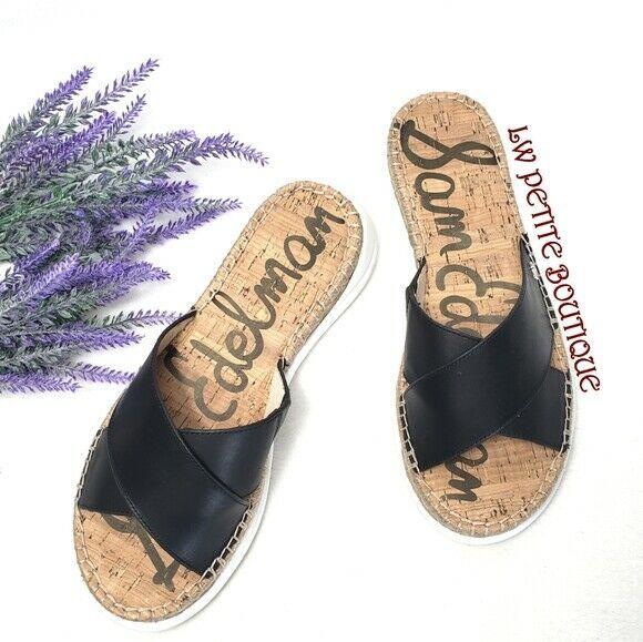 Sam Edelman Jen Slide Leather Sandals Womens US size 9 - $57.42