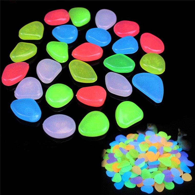 Primary image for 10pcs/lot Luminous Pebbles Rocks Garden Ornaments Stone Glow In The Dark