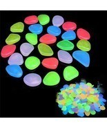 10pcs/lot Luminous Pebbles Rocks Garden Ornaments Stone Glow In The Dark  - £3.14 GBP+
