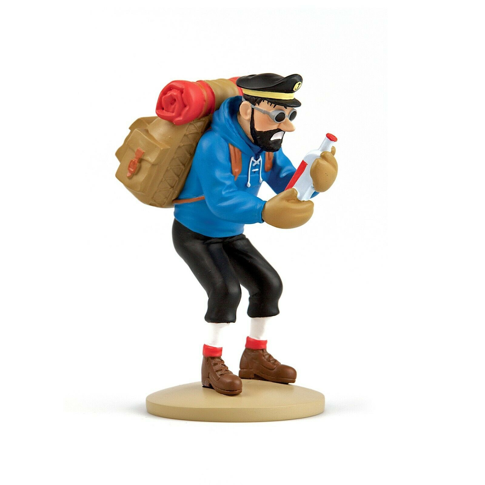 Captain Haddock with bottle resin figurine Official Tintin product