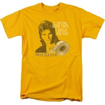 MacGyver Retro 80s action adventure TV series graphic gold t-shirt CBS1643 image 1
